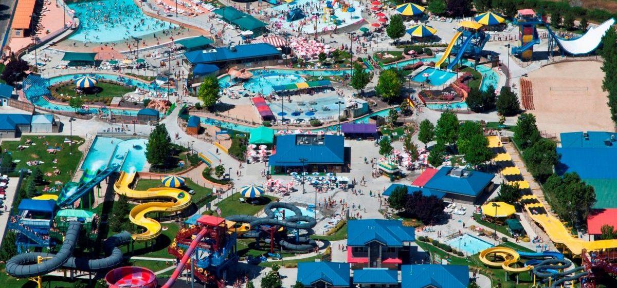 aerial view of roaring springs water park