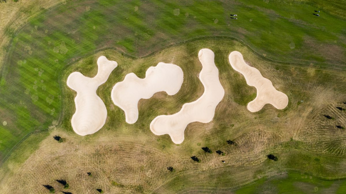 overhead photo of sand traps