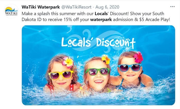 locals discount tweet
