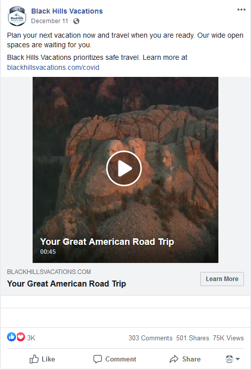 photo of the mount rushmore facebook ad