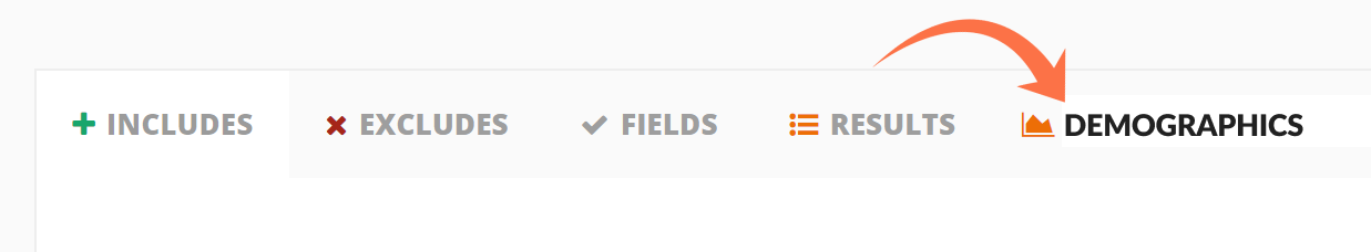 screenshot of list builder tabs
